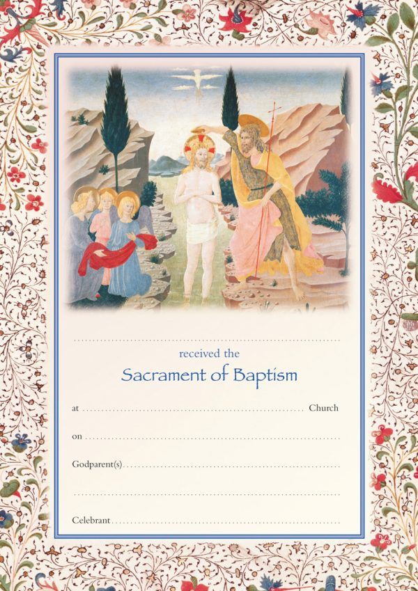 Sacrament of Baptism Certificate