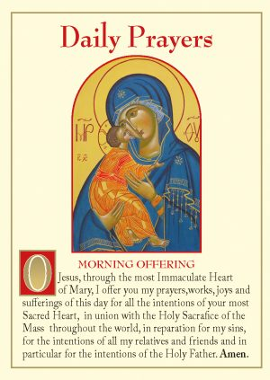 Daily Prayers Prayer card