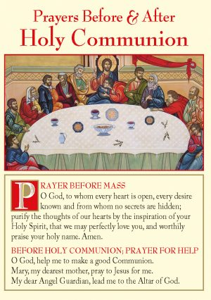 Prayers Before and After Holy Communion