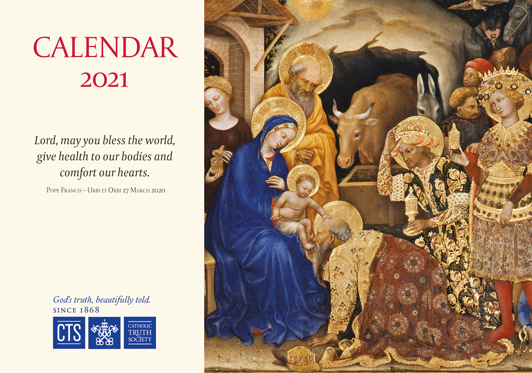 Catholic Wall Calendar 2021 CTS Calendar 2021   Catholic Truth Society