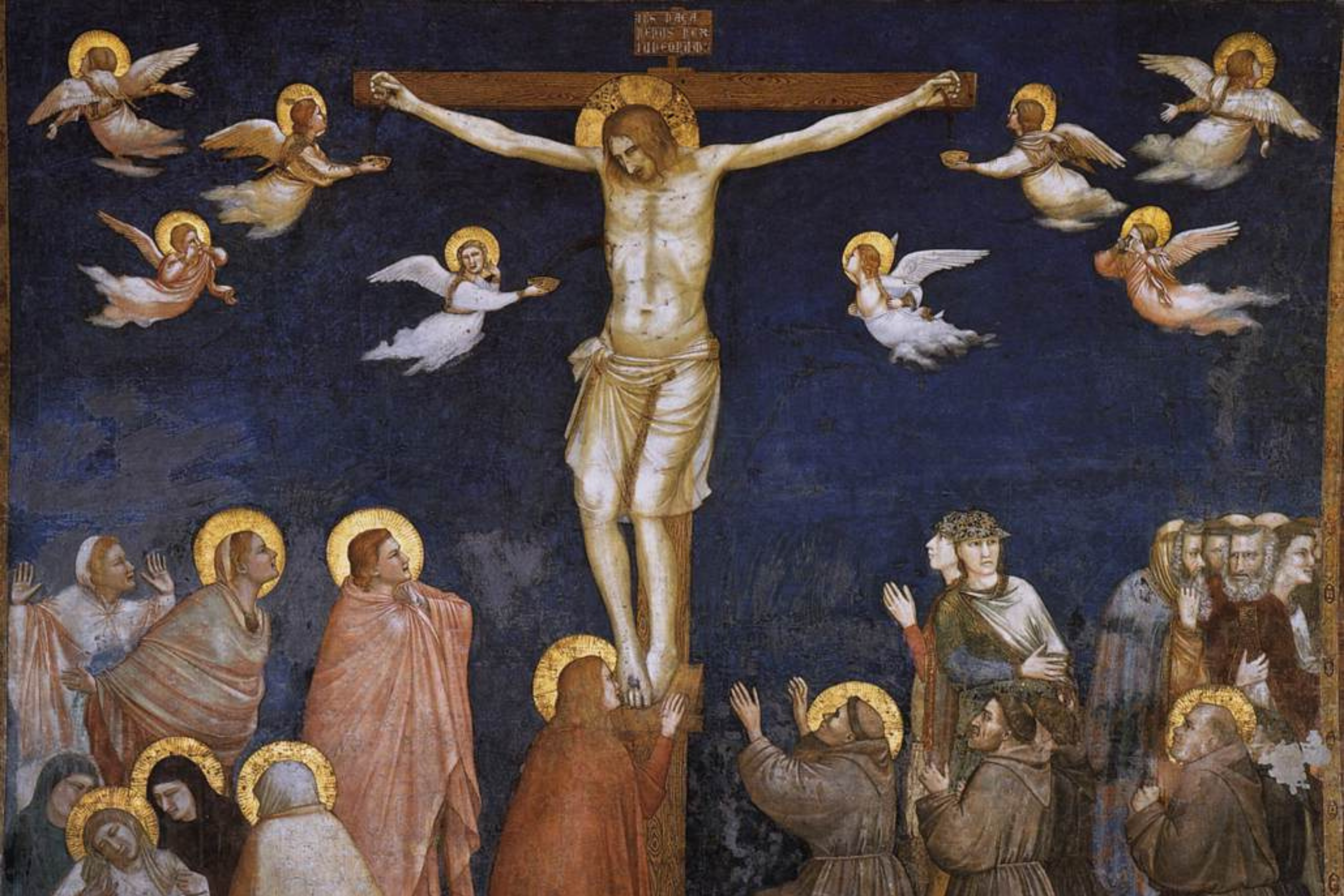Painting of the Crucifixion by Giotti