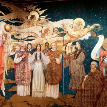 Painting featuring St Kateri Tekakwitha